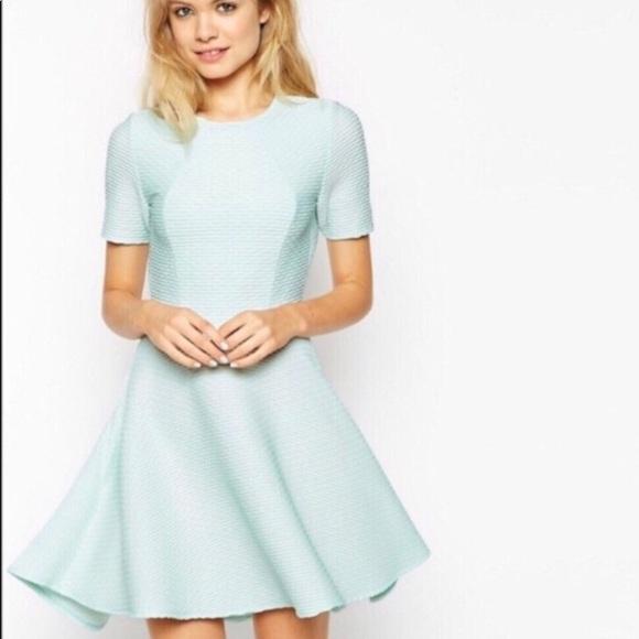 ASOS Dresses & Skirts - ASOS Pale blue Open Back Midi Tea Dress, high-low